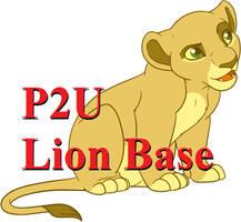Lion King Cub Sitting Base: 130p by oCrystal
