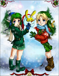 Kokiri Christmas. by cam-miyu