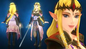 Zelda - Hyrule Warriors (MMD Render Test) by Jakkaeront