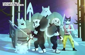 Snowdin Dogs by Jakkaeront