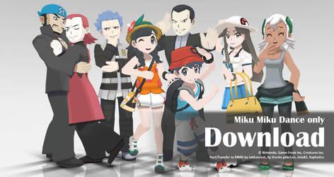 MMD Pokemon 2017 Pack5 DL by Jakkaeront