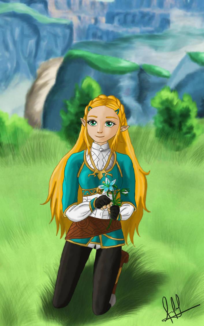 Zelda Breath of the Wild: Princess  Zelda by cotekotita