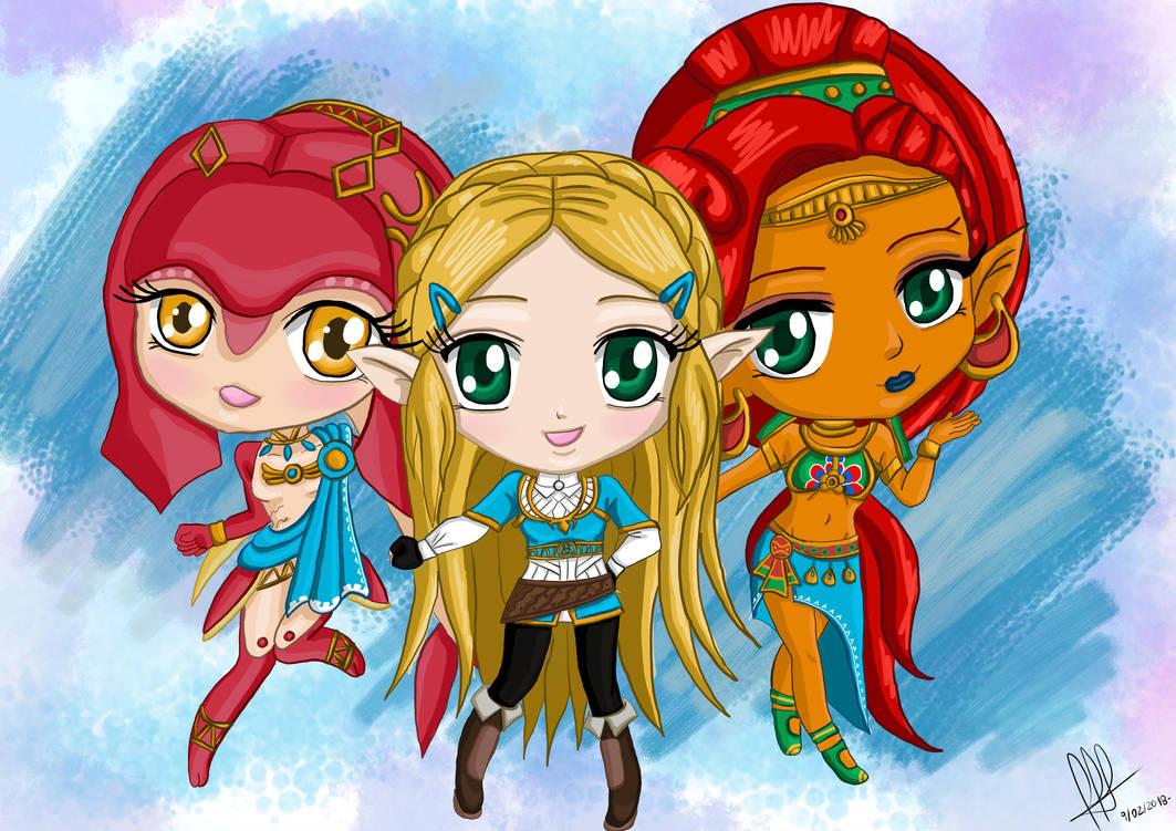 Zelda Breath of the Wild (chibi version) by cotekotita