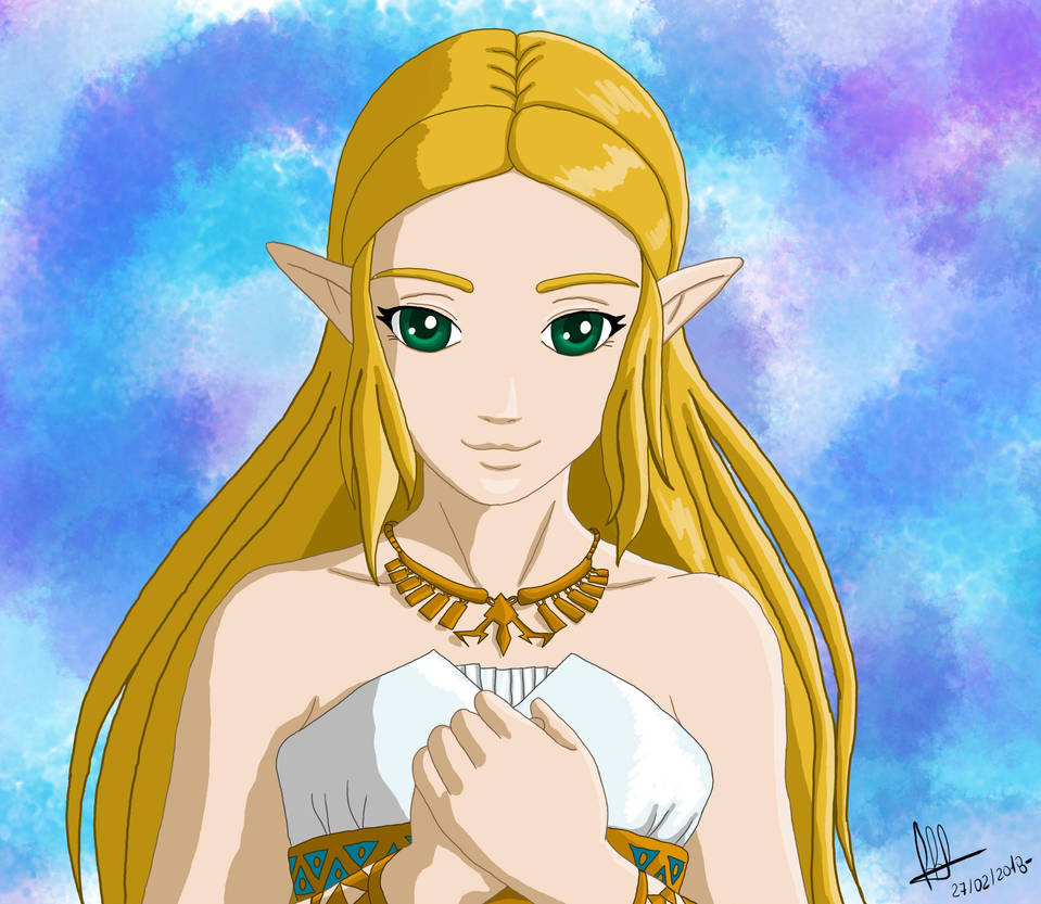 Princess Zelda (Zelda Breath of the Wild) by cotekotita