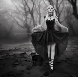 Woman in Black by MennaKezia