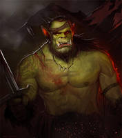 Orc Warrior by SgtNick