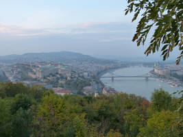 Chain Bridge and city from the Citadella by setanta5