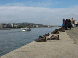 Shoes on the Danube Promenade I by setanta5