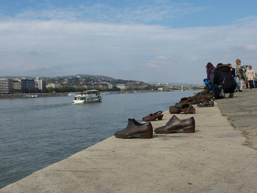 Shoes on the Danube Promenade I by setanta5