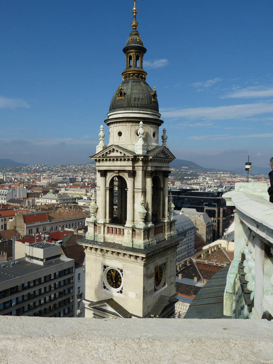 View from St. Stephen's Basilica bell-tower III by setanta5