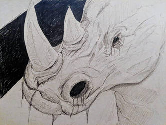 Rhino (Ink) by Commint