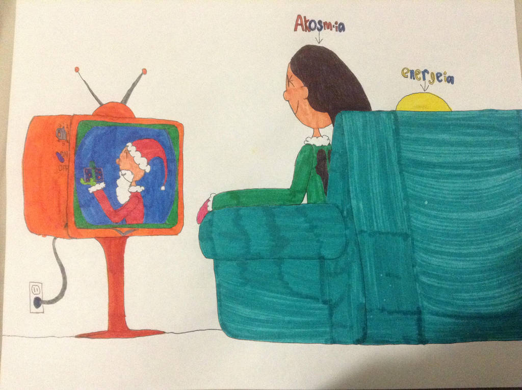 Akosmia and energeia watching Christmas specials. by britishman1940
