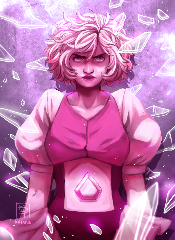 Speedpaint Angery Pink Diamond from the latest SU episode