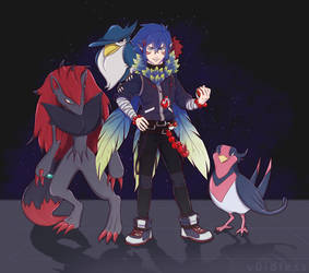 Gymleadersona by v0idless