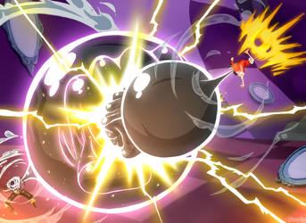 One Piece 879 - Mochi Mochi VS Gomu Gomu by Hanayo-Nao