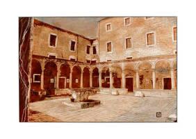 Monastere franciscain sepia by StephanWhite