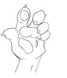 furry hand INK by zonalcarlo