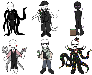 Chibi slender-family by rainbowolfe1