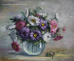Flowers - Asters by Lidmar