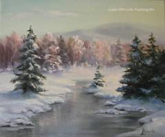 Frozen brook by Lidmar