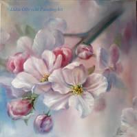 Apple flowers by Lidmar
