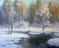 Winter landscape snow by Lidmar