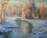 Winter landscape- Sun by Lidmar