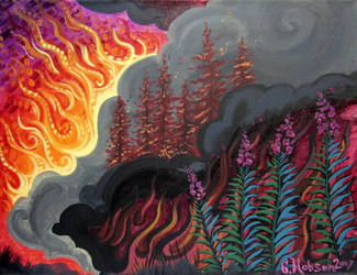 Forest Fire (vdieo in description) by MitziMonster