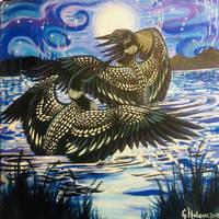 Moon Dancing by MitziMonster