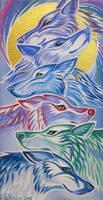 Wolves of Ostara by MitziMonster
