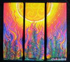 Fireweed Fire Triptych by MitziMonster