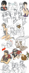 lots of dragon age dump sketch by spidercandy