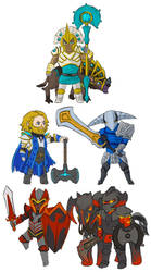 Dota 2 - chibi Knights by spidercandy