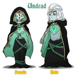 Reverse game stereotype design - Undead by spidercandy