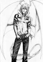 Hollow Ichigo: Were-Dragon by blackstorm