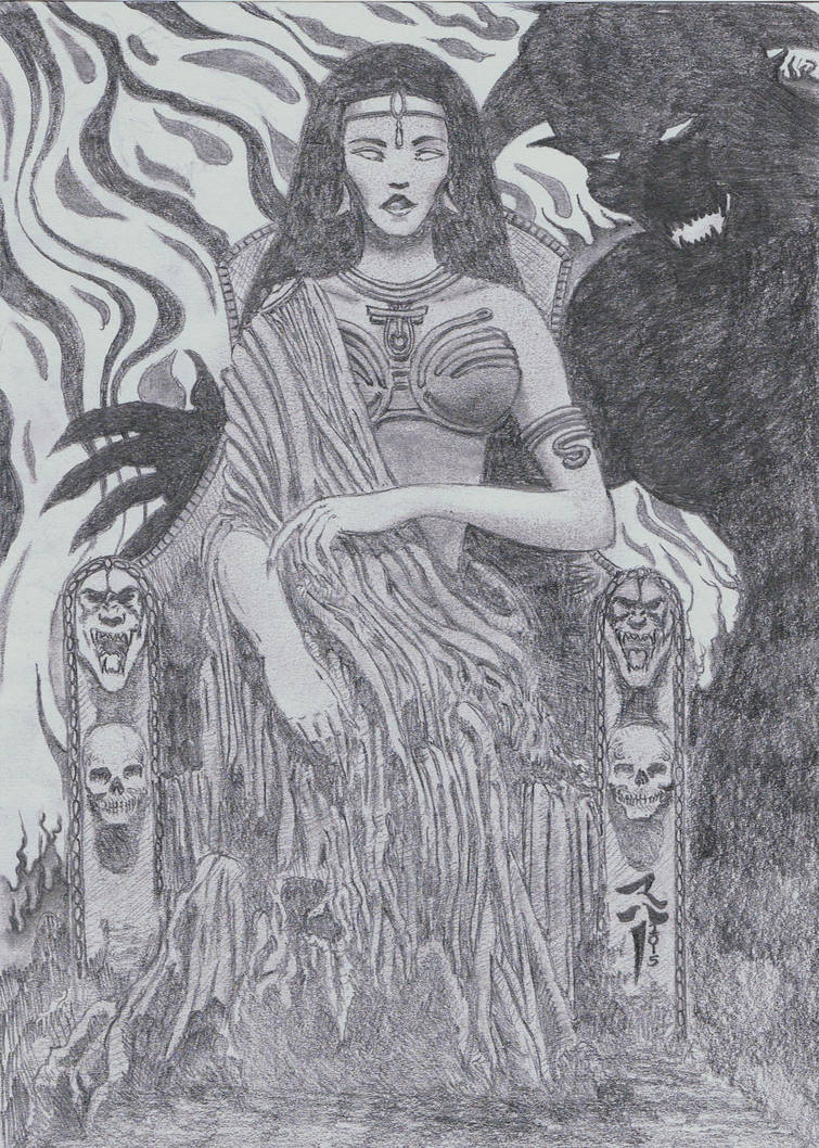 Ghoul queen 2 pencil sketch by stonedsmeagol