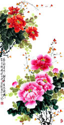 The large rich peony flowers by TaoBishu