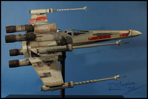 X-Wing revisited finished model RED 5 by Hikaru84
