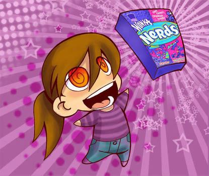 I love LOVE nerds by melivillosa