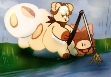 fishin for trouble, comin up nothin by kitkatbun