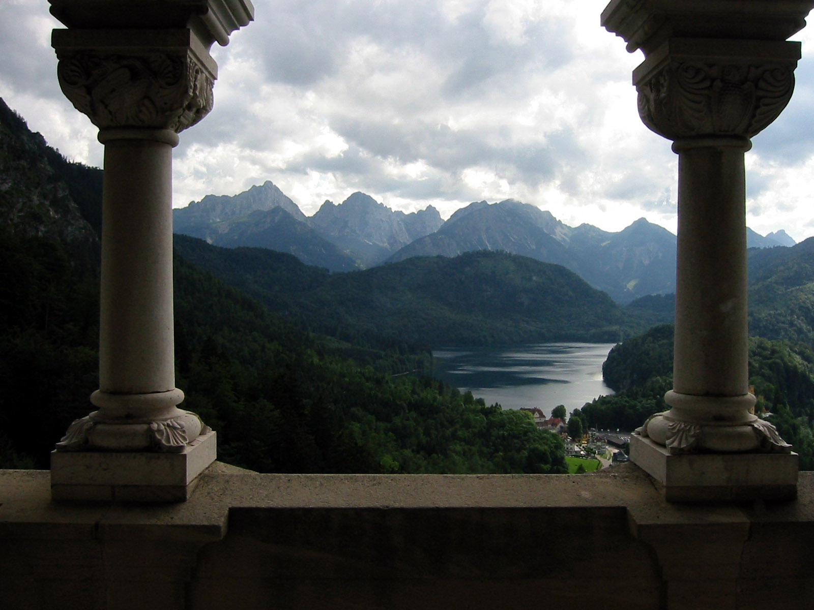 alps through columns by welder-stock
