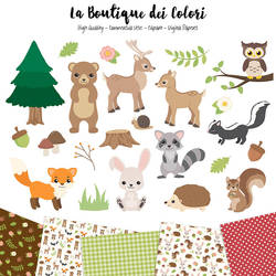 Woodland Animals Graphics by KaipheArt