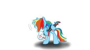 Rockin' Rainbow Dash by Ceehoff