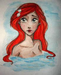 Little sad Ariel by Lulu-Lomaki
