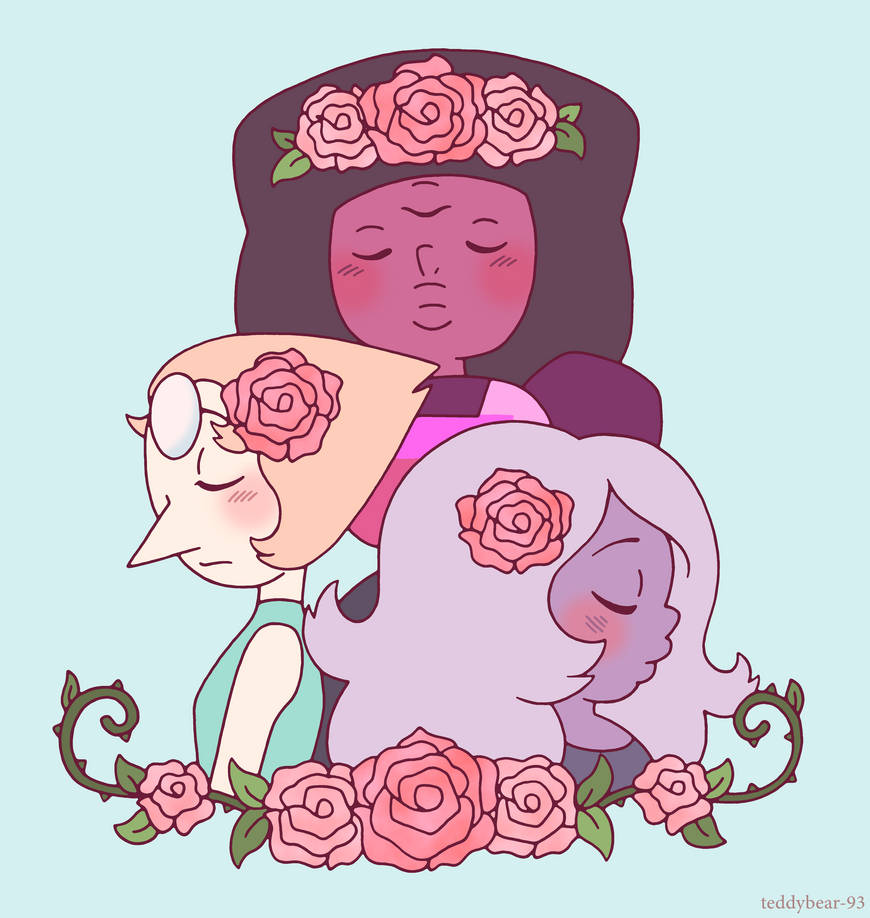 ((Amethyst takes the rose off of her head and stuffs it in her mouth)) Available on Redbubble: www.redbubble.com/people/teddy… Please Support My Art on Patreon: www.patreon.com/ted...