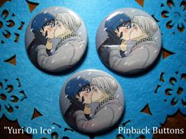 Yuri on Ice -- Pinback Buttons by Teddybear-93