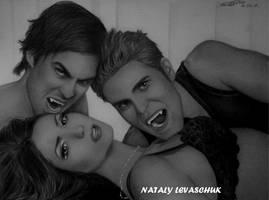 Vampire Diaries cast - EW Magazine II by NLevaschuk