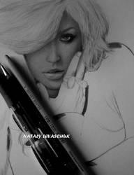 Christina Aguilera. WIP by NLevaschuk