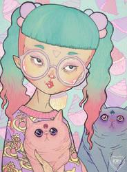 Cat Lady by l0ll3