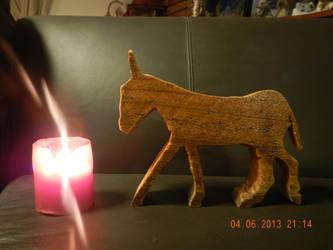 Donkey cut by animel